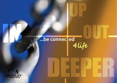 our mission statement UP, IN, DEEPER and OUT ...be connected for life